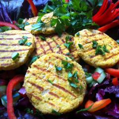 Receita – Hambúrguer Vegetariano de Abóbora com Grão de Bico