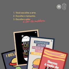 Posters Hambúrguer Perfeito – 4 opções para retirar em São Paulo antes do Natal