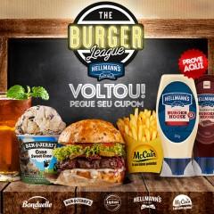 The Burguer League 2018 – De 11 a 29/abril com combos a preços especiais