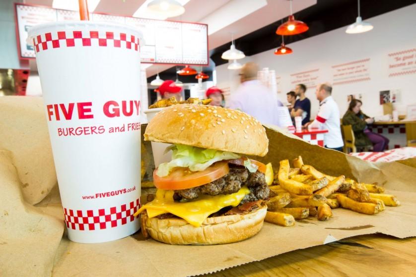 Hambúrguer do Five Guys em Miami